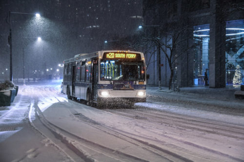 MTA Responds to Winter Storm: Operations during winter storm on Wed., December 16, 2020.