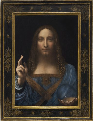 Leonardo da Vinci, Salvator Mundi, c.1500, oil on walnut (framed).