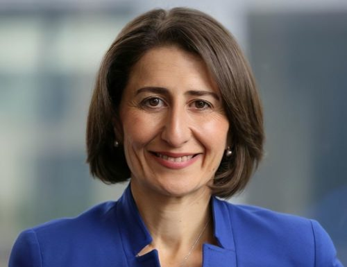 Premier of New South Wales Gladys Berejiklian who is also the Leader of the Liberal Party of Australia (New South Wales Division).
