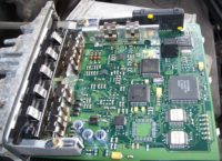 Interior view of an engine controller from a Golf III TDI.