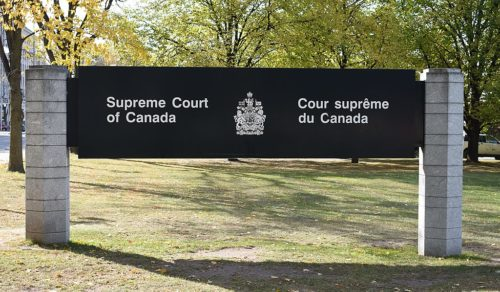 Supreme Court of Canada sign