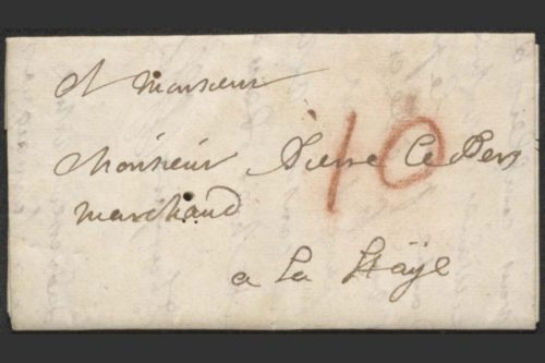 The unopened letterlocked letter.