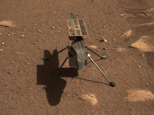 Picture of NASA's Ingenuity Helicopter taken by the Perseverance rover.
