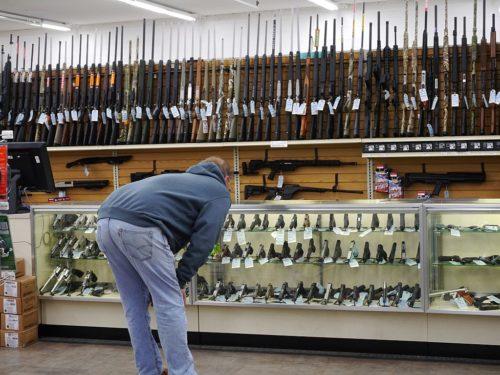 Gun section in Stans Merry Mart, Wenatchee Washington