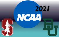 Graphic with the logos of the NCAA, Stanford University, and Baylor University.