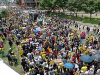 Protest in Cali, Colombia on May 7, 2021 in response to President Duque's proposed tax reform law.