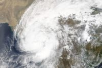 Cyclonic Storm Tauktae seen over India by the Terra satellite on May 18, 2021.