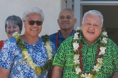 Deputy Prime Minister Fiame Naomi Mataafa (left) and Prime Minister Tuilaepa Malielegaoi in 2018..