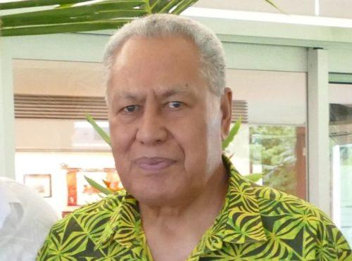 Tuimalealiifano Va'aletoa Sualauvi II, Samoa's Head of State, in 2018.