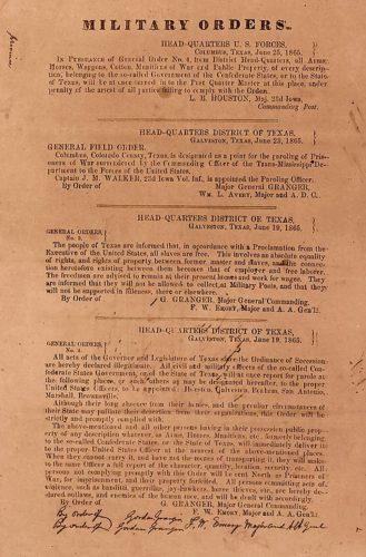 General order No. 3 of June 19, 1865