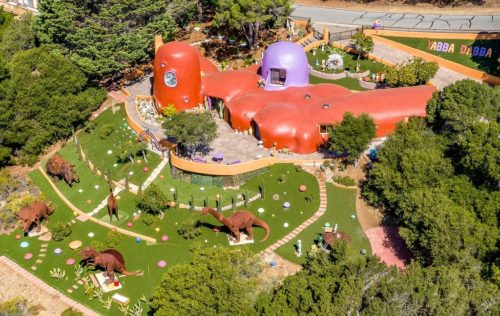 Aerial View of Flintstone House