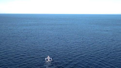 Mayflower Autonomous Ship leaving on its first cross-Atlantic trip.