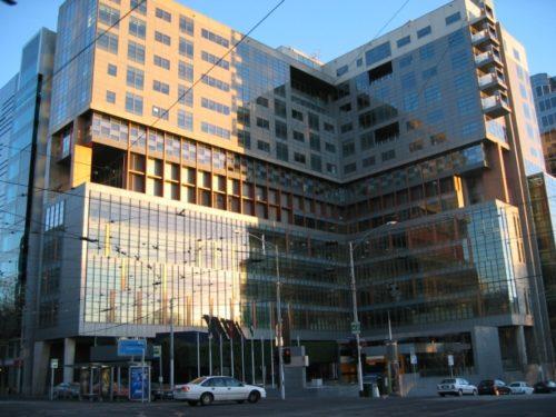Melbourne Federal Court Building. Taken from Flagstaff Gardens 11 July 2005.