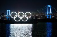 Tokyo 2020 Olympic Games- Monument of Olympic Rings