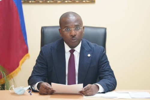Haitian Prime Minister Claude Joseph shown in a photo in April, 2021.