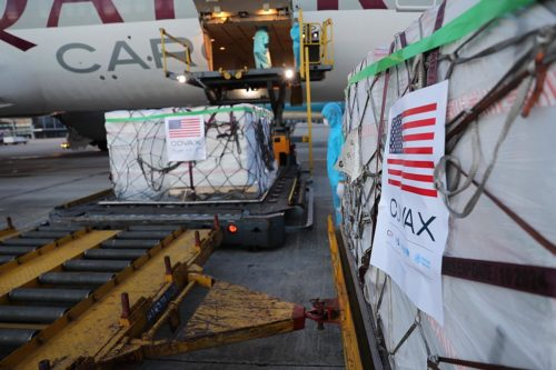 Arrival of 2 million Moderna vaccine doses at Noi Bai International Airport in Vietnam on July 10.
