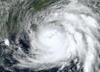 Hurricane Ida at landfall on Port Fourchon, August 29, 2021.