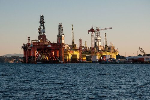 Oil Rigs at Coast Center Base outside Bergen