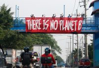 """There is """"No Planet B"""" banner in the Philippines"""