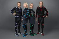 The members of ABBA in 2021 wearing special suits designed to capture their body movements.