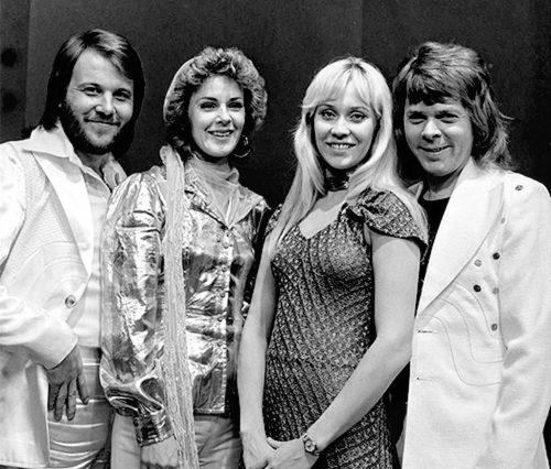 ABBA on a Dutch TV show in 1974.