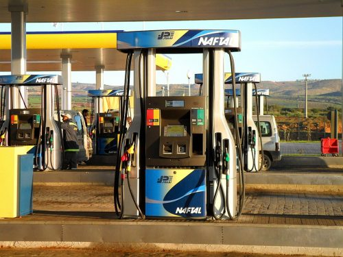 The first gas station on the highway east-west of Glizan in Algeria.
