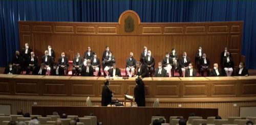 India's Supreme Court during a swearing-in procedure on August 31, 2021.