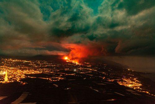Volcanic Eruption on La Palma, September, 2021.