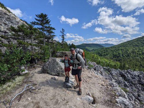 Josh and Harvey Sutton hiking the Appalachian Trail.