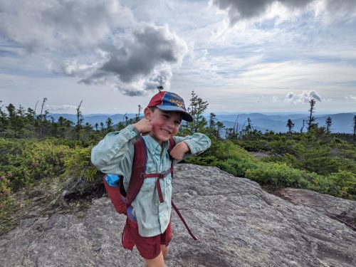 Harvey Sutton hiking the Appalachian Trail.