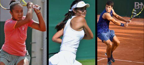Leylah Fernandez, Emma Raducanu, and Carlos Alcaraz