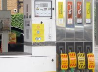 Pumps out of use. Sold out, Effects of panic buying at Shell petrol station, Wetherby as a result of the 2021 United Kingdom fuel crisis