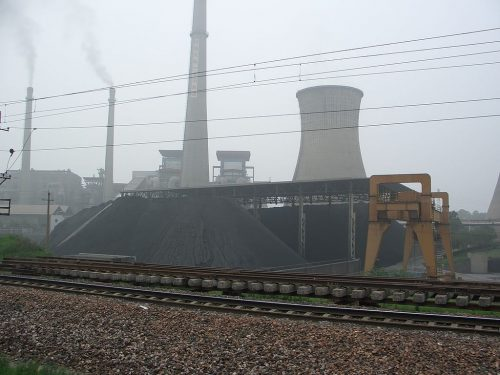 A Chinese coal power plant around 2005.