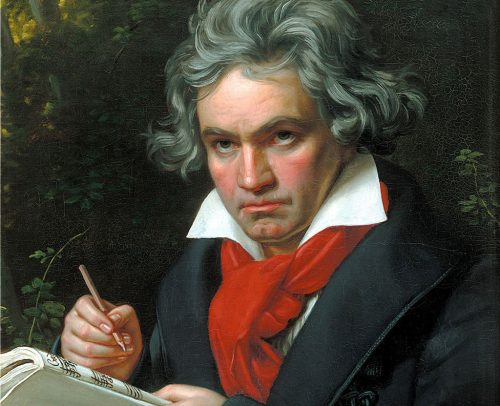 Painting of Ludwig Van Beethoven by Joseph Karl Stieler made in the year 1820.