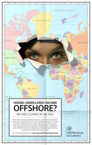 HMRC offshore tax-evasion poster February 2014.