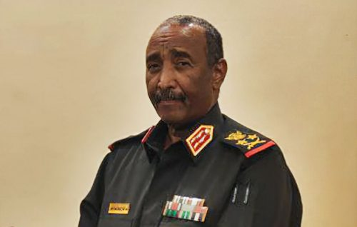 President of Sudan Abdel Fattah al-Burhan, January, 2021.