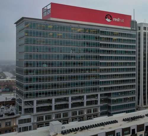 Red Hat Tower in Downtown Raleigh, North Carolina on 15 February 2017